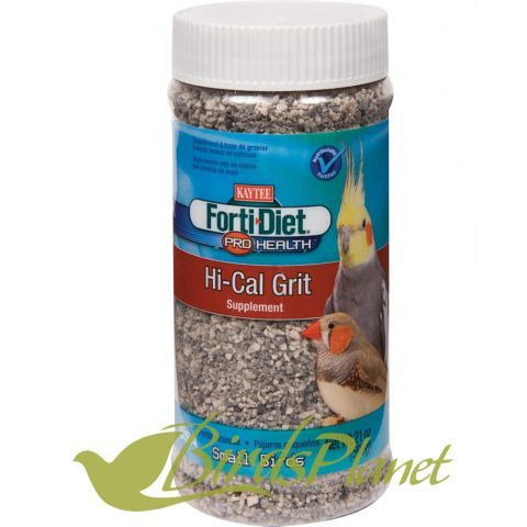 KAYTEE® Forti-Diet® Pro Health™ Hi-Cal Grit for Cockatiels, Parakeets, Canaries & Finches is specially designed to provide additional calcium and other important minerals to birds fed a seed-based diet. Do NOT provide to birds fed processed or extruded foods, such as KAYTEE exact®.