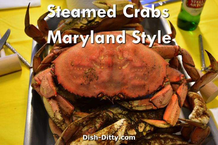 Maryland Style Steamed Crab by Dish Ditty Recipes - My Dad was born and raised in Baltimore, and if there is one thing that makes you think of Baltimore is Maryland Style Steamed Blue Crabs. By far, the best way to cook and eat crabs.   - http://www.dish-ditty.com/recipe/maryland-style-steamed-crab/