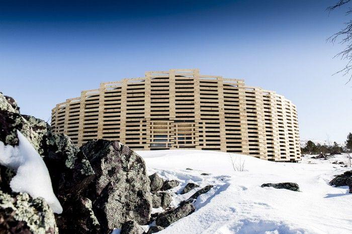 Visitor Centre Snow Trap, World Heritage Laponia