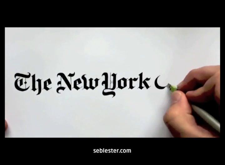 Master calligrapher creates amazing hand-drawn logos