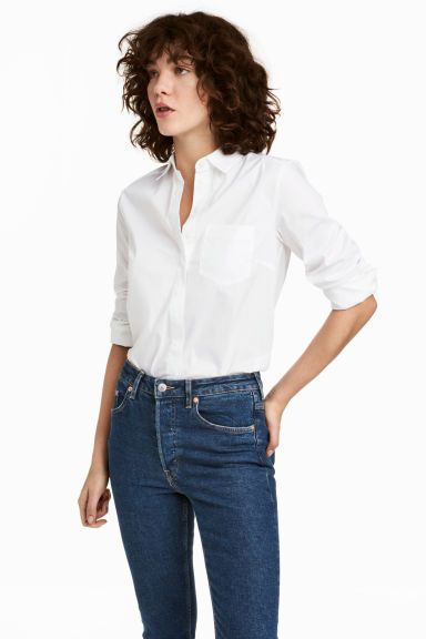 d9cea896846ef Fitted shirt - White - Ladies