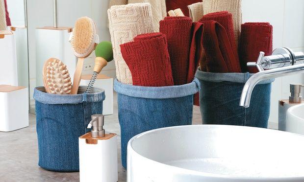 Ideias criativas para reaproveitar um jeans velho na decoração da sua casa