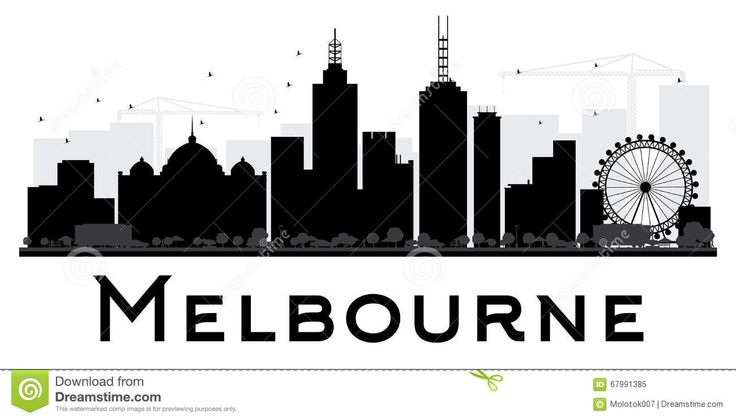 Melbourne City Skyline Black And White Silhouette. - Download From Over 50 Million High Quality Stock Photos, Images, Vectors. Sign up for FREE today. Image: 67991385
