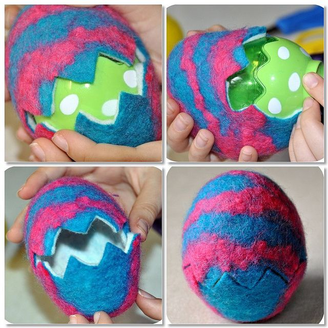 wet felted easter eggs mosaic by Rosina Huber, via Flickr