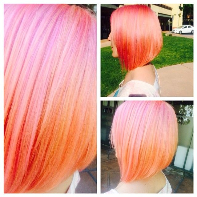 Pastel Pink and Orange Mix - Hair Colors Ideas