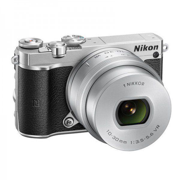 Nikon 1 J5 with 10-30mm Silver Mirrorless Digital Camera