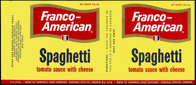 Campbell Soup Company - Franco-American Spaghetti can label - later 1950's by JasonLiebig, via Flickr