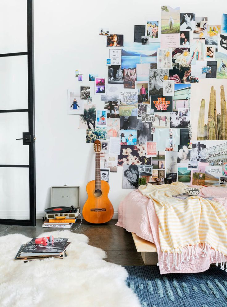 Need A Cool Budget Friendly Wall Art Idea? Boho Eclectic Collage Wall. Easy,