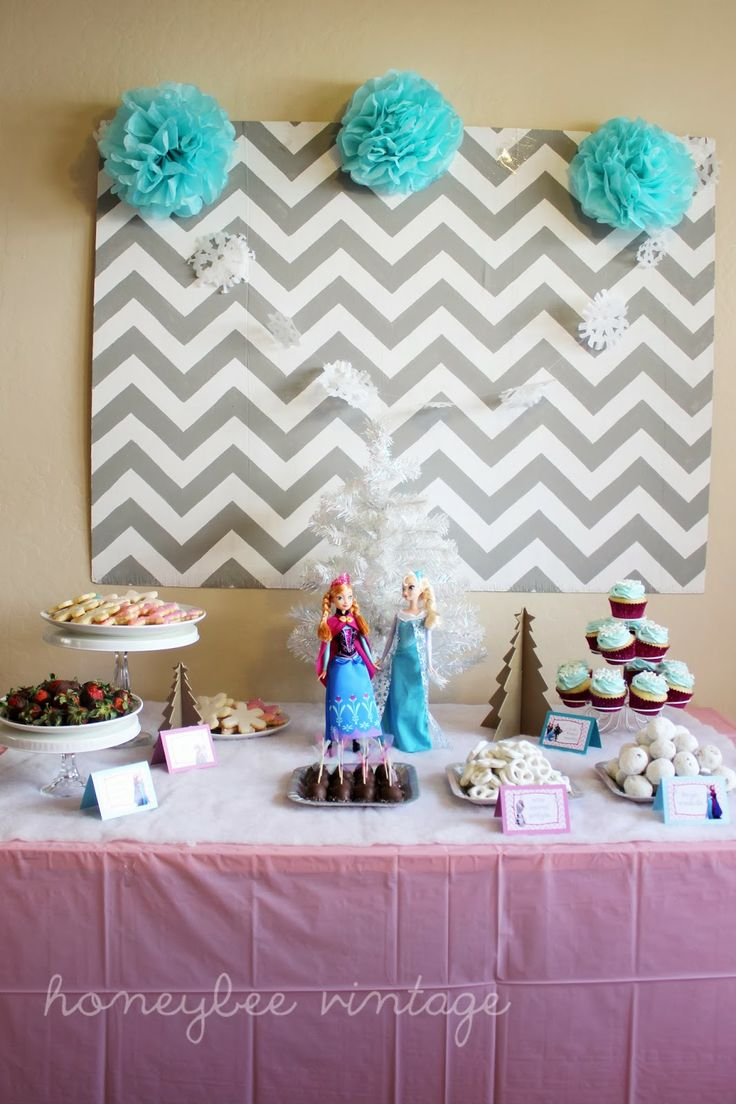 Frozen Birthday Party Table Decoration Ideas Best Decoration Ideas