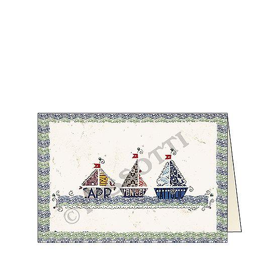 """Biglietto """"Sul mare azzurro"""" - Card """"On the blue sea"""" 11,5x16,8 cm"""