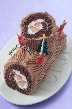 「黑いブッシュドノエル」kaiko | お菓子・パンのレシピや作り方【corecle*コレクル】