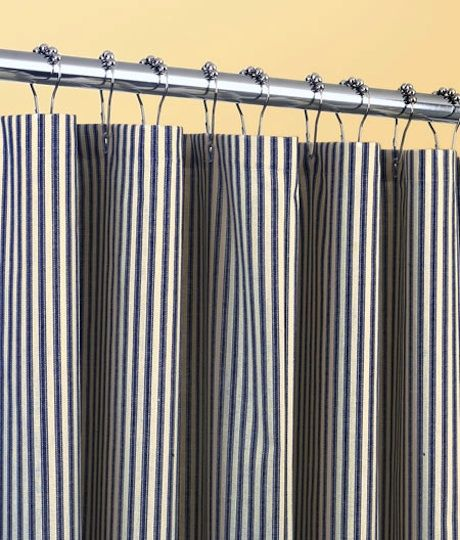 Ticking Stripes Shower Curtain | things i want! | Pinterest