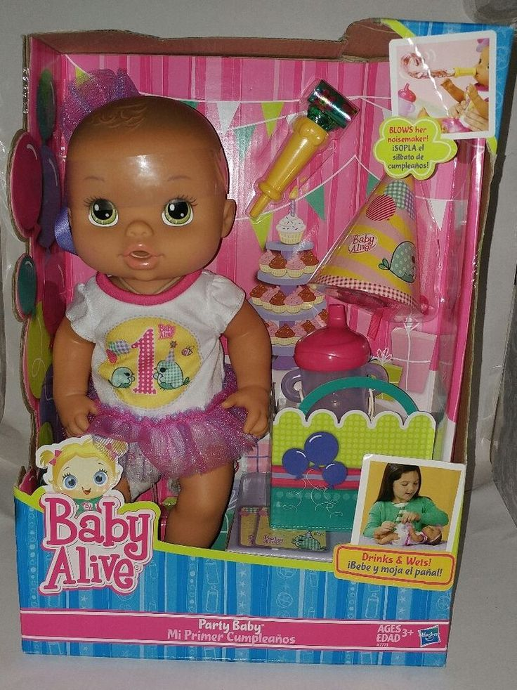 Baby Alive Party Baby Doll drinks wets New Rare First Birthday #BabyAlive