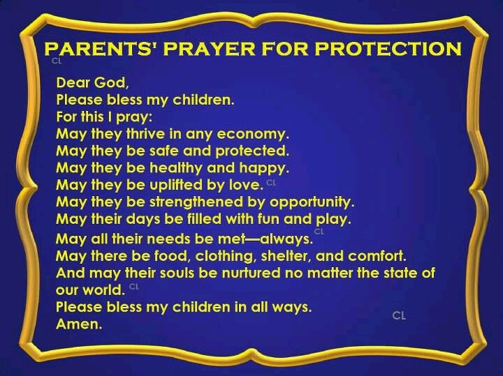 Pray For My Child Quotes: Parents Prayer For Protection