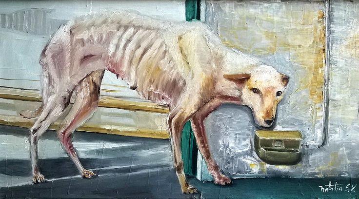 un perro hambriento #oil #oilpainting #dog #art