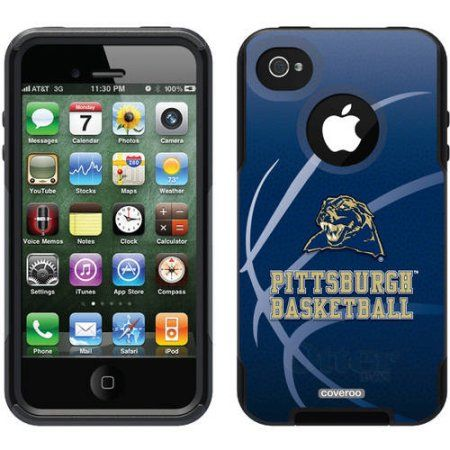 University of Pittsburgh Basketball Design on OtterBox Commuter Series Case for Apple iPhone 4/4s