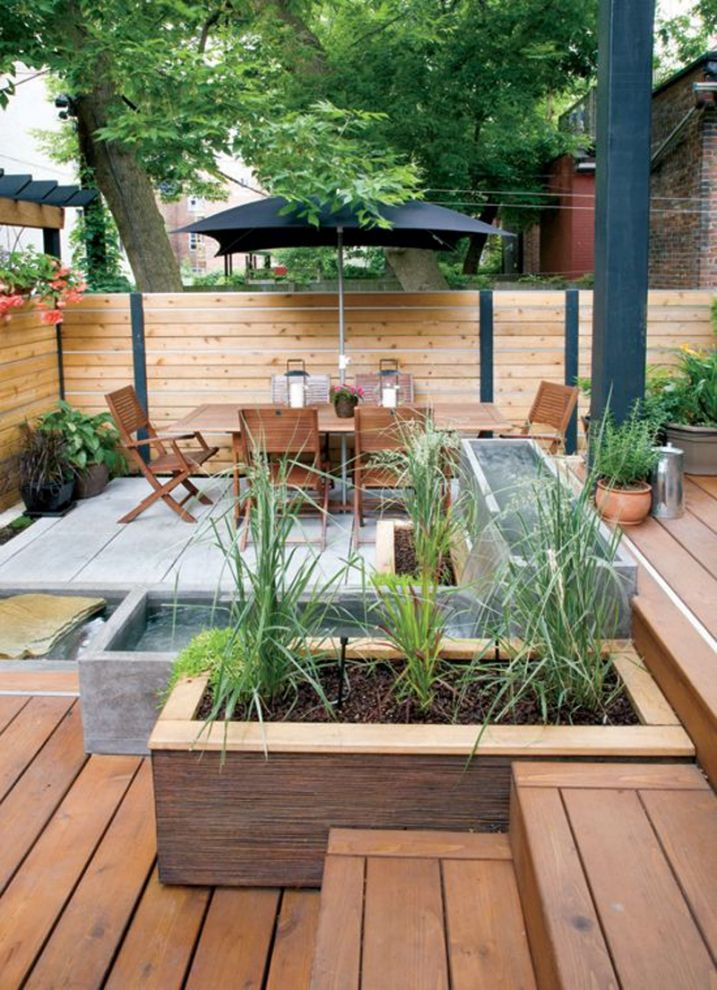Terrasse avec bassin