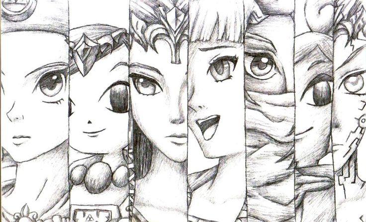 Princess Zelda Drawing Princess Zelda Collection By