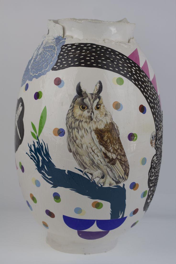 modern fajance vase