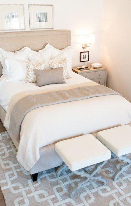 White beige bedroom - https://bedroom-design-2017.info/interior/white-beige-bedroom.html. #bedroomdesign2017 #bedroom