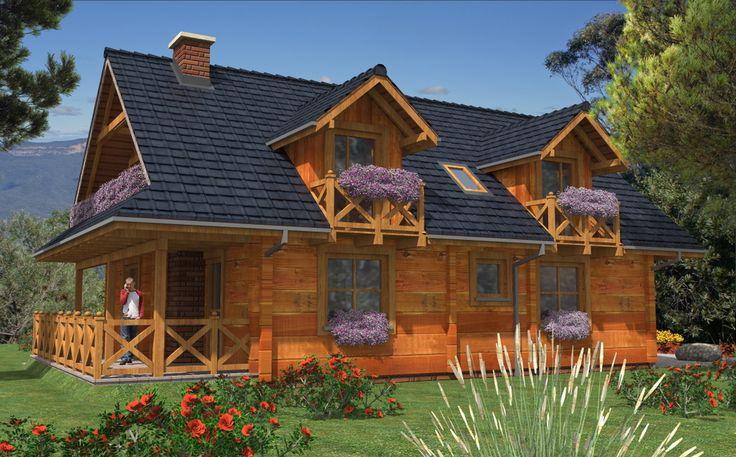 DOM.PL™ - Projekt domu MD A-124 bale CE - DOM MD3-15 - gotowy projekt domu