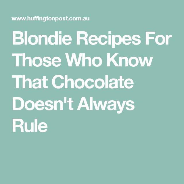 Blondie Recipes For Those Who Know That Chocolate Doesn't Always Rule