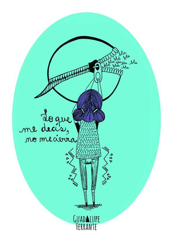 No me cierra Illustration by Guadalupe Ferrante, via Behance