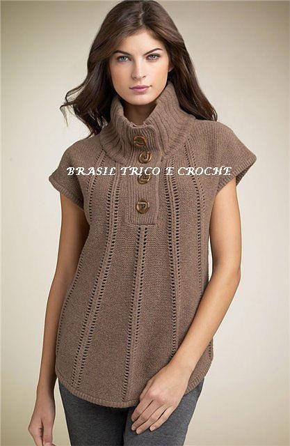 Brasil Tricô & Crochê - Handmade: Colete Turquia