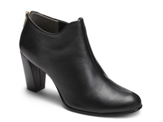 Women's Aerosoles Trustworthy Bootie - Black Leather