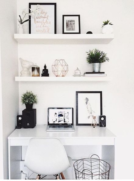 Starting our feed with this white workspace regram from Hayley in Australia   We love the clean, monochrome + copper aesthetic  So bright + light and  ...