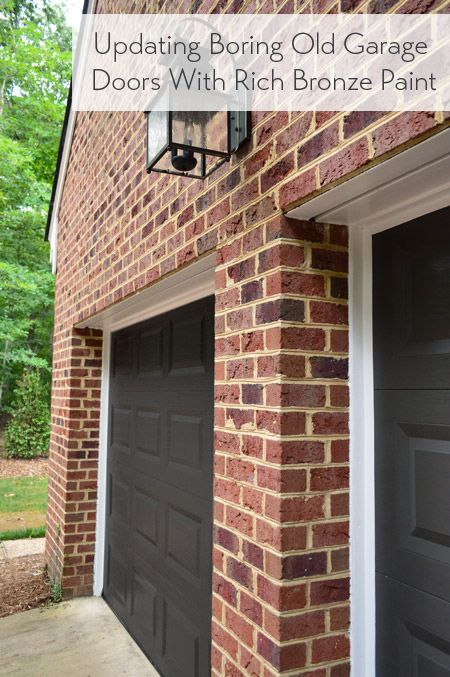 Easy afternoon makeover: painting old cream garage doors a deeper richer color