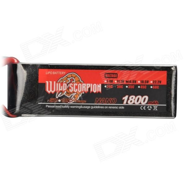 14.8V 1800mAh 30C Replacement Li-Poly Battery for RC Helicopter / Car / Boat + More - Black + Red. Color Black + Red Material Lithium polymer + plastic Quantity 1 Piece Compatible Models The RC helicopter / car / boat which its battery specification is 14.8V 1800mAh 30C. Battery Actual Capacity 1800 mAh Nominal Capacity 1800 mAh Battery Type Li-polymer battery Voltage 14.8 V Input Voltage Others,N/A V Output Voltage Others,N/A V Plug Specifications Others,N/A Other Features Replace the old…