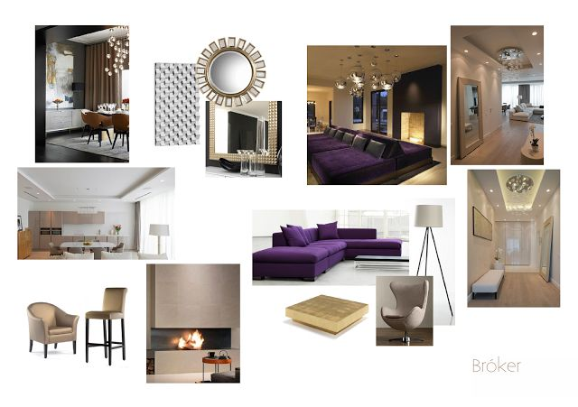 moodboard, purple, gold, glamour, shiny, interior design