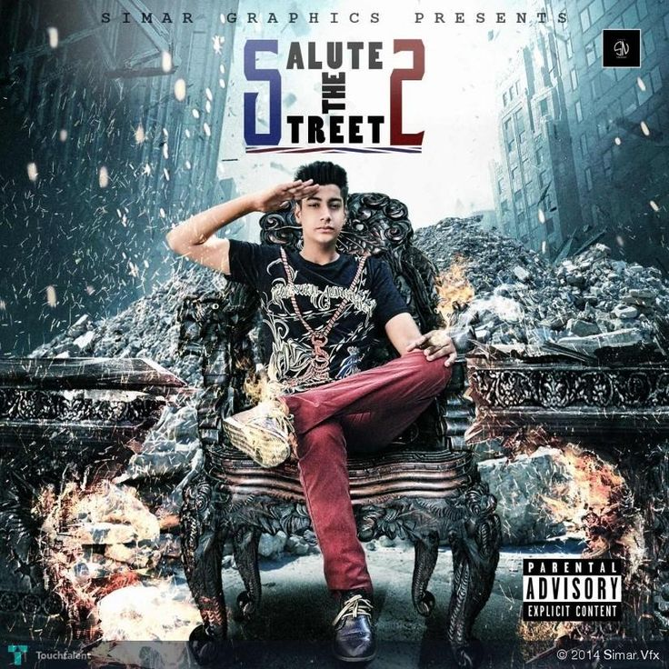 salute the street 2 mixtape cover by simarvfx #Creative #Art #Design @touchtalent.com