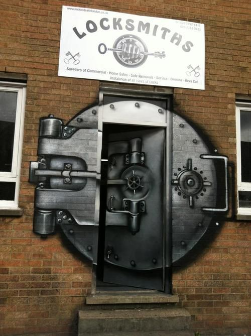 Locksmiths, London -  example of when street art makes actual, logical sense.
