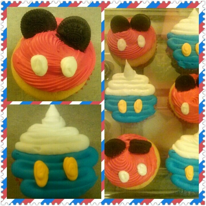 Mickey Mouse & Donald Duck Cupcakes