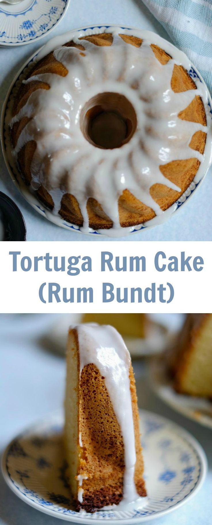 Rum Bundt or Tortuga Rum Cake is a Caribbean cake made of rum infused cake and a delicious rum icing. This rum cake tastes even better the next day.
