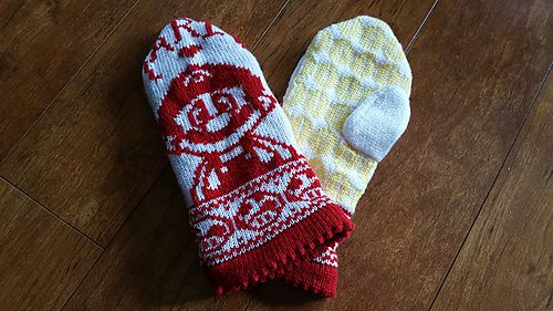 Ravelry: Itsa' Mario Mittens! pattern by Starlight Honeymoon Creations
