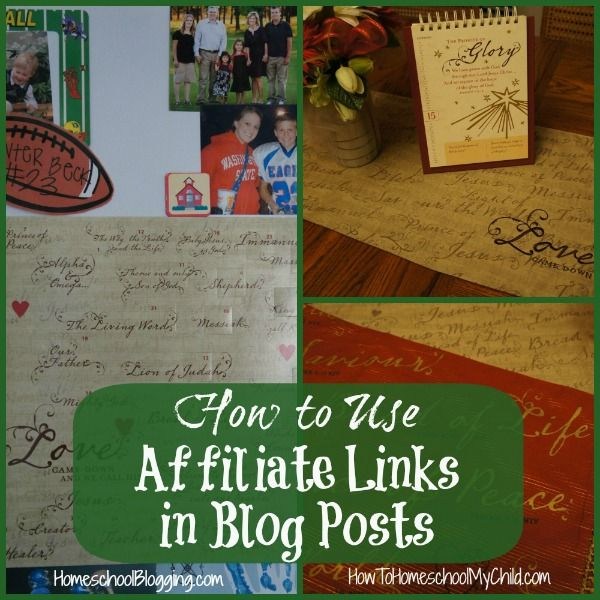 how to use affiliate links on blog