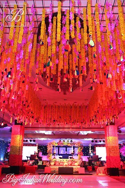 Oriental Events wedding decor with marigolds