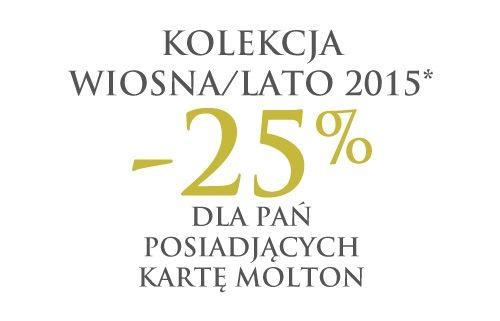MOLTON: kolekcja wiosna/lato z rabatem -25%