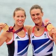 Great Britain has collected its first gold medal of the London Games after Heather Stanning and Helen Glover won the coxless pairs with a stunning performance that will spark a mass outpouring of celebration and relief across the country.    One had never stepped in a rowing boat until 2008, the other will return to serve in the Royal Artillery in September. But Glover and Stanning will now go down in the record books as the first homegrown gold