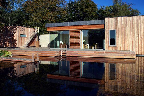 Beautiful Landscape from Best Retreat House Design by New Forest House in UK 600x401 Best Retreat House Design by New Forest House, in UK