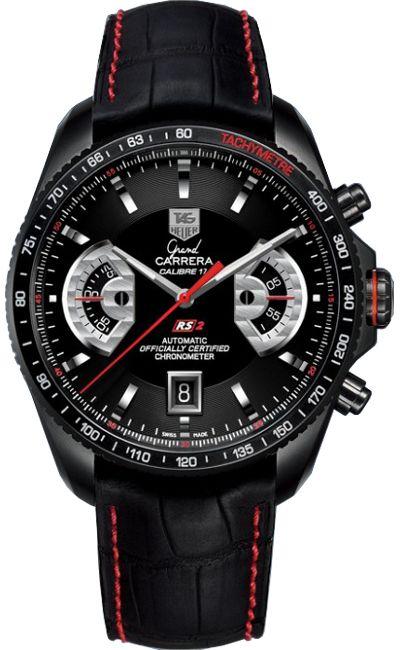 CAV518B.FC6237   TAG Heuer Grand Carrera Black PVD Chronograph Mens Watch