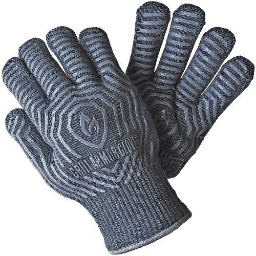 Grill Armor Extreme Heat Resistant Gloves (Men stocking stuffers)