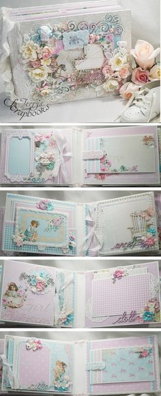 I've made up a custom order mini album using Lemon Craft Tiny Miracles papers. The papers are so soft and pretty perfect fo...