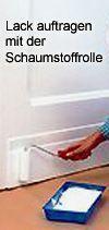 Türen, Zargen und Fußleisten lackieren bzw. streichen