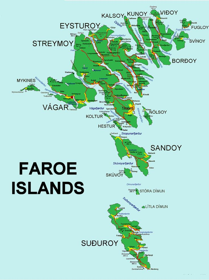 Faroe-Islands-Map