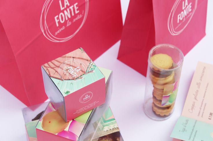 Shopper and boxes for La Fonte