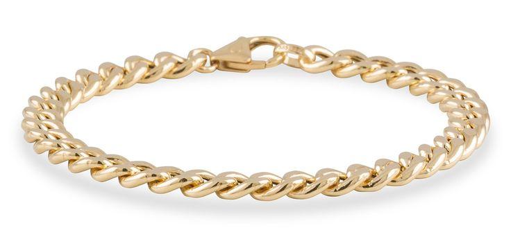 Geelgouden Schakelarmband 'Gourmet' hol - 6.0 mm x 19 cm 204.2028.19. Prachtige 14 karaats geelgouden Schakelarmband met een lengte van 19 cm. Deze hoogwaardige geelgouden armband is 6 mm breed. Draag de armband alleen of combineer het met een van de andere gouden armbanden uit onze Gold Collection. Denk hierbij niet alleen aan dezelfde kleur edelmetaal, want geel- en witgoud staan ook erg mooi bij elkaar.